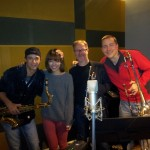 Recording for new artist J-Ari with Ben Pelletier and Charlie Huntley